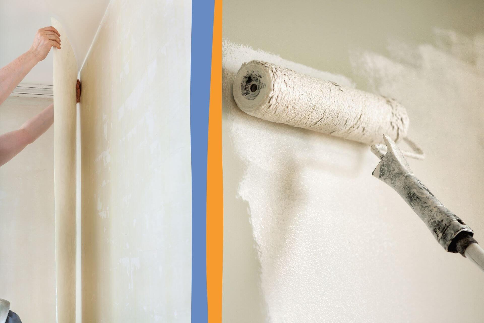 Wand streichen oder tapezieren
